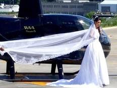 התרסקה במסוק ביום חתונתה (צילום: dailymail)