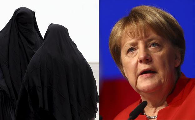 אנגלה מרקל רוצה לאסור בורקה בגרמניה (צילום: רויטרס)
