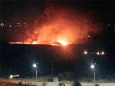 תקיפה בדמשק (צילום: חדשות 2)