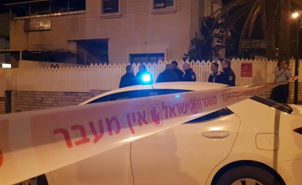 זירת הרצח במסיבת השחרור בפתח תקווה (צילום: חדשות 2)