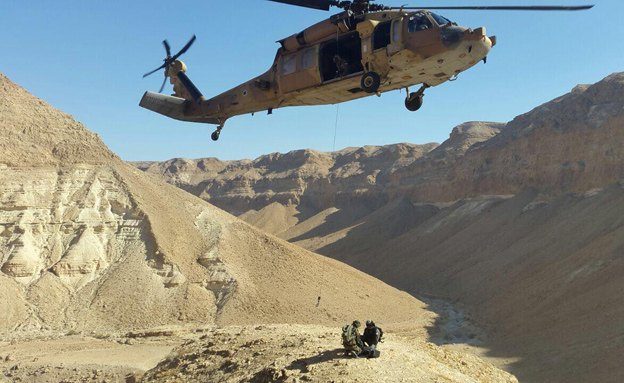 החילוץ באיזור נחל צאלים (צילום: חדשות 2)