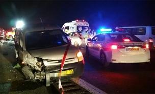 תאונה בכביש 6, ארכיון (צילום: דוברות משטרת ישראל)