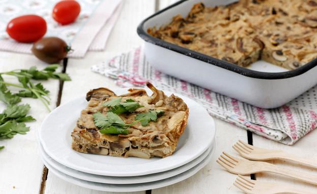 פשטידת פטריות פרווה (צילום: נטלי לוין ,אוכל טוב)