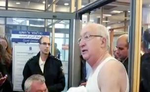 טרכטנברג התפשט מחאת החצאיות בכנסת (צילום: חדשות 2)