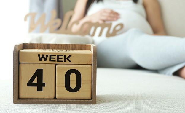 אישה בהריון מתקדם (צילום: shutterstock ,shutterstock)