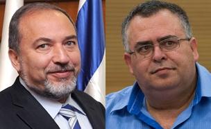 דוד ביתן ואביגדור ליברמן (צילום: חדשות 2)