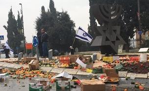 הפגנת החקלאים (צילום: חדשות 2)