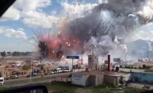 הפיצוץ במקסיקו (צילום: CNN)