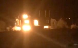 פיצוץ חומרי הנפץ שהחזיקה חוליית חמאס (צילום: חדשות 2)