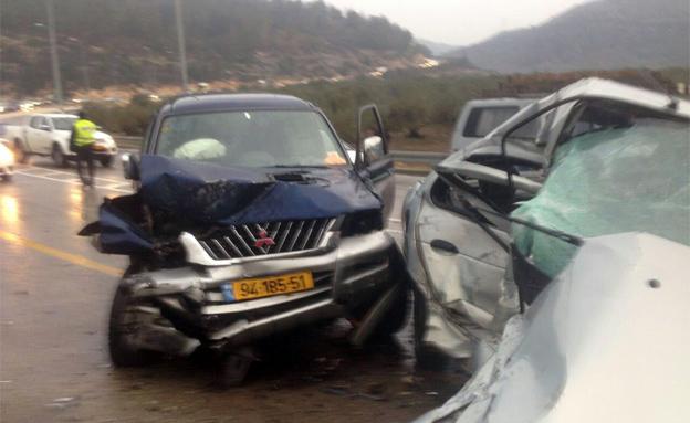 הרוג ושני פצועים בתאונה בגליל (צילום: חיאן רפואה דחופה)