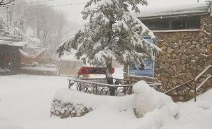 שלג בחרמון (צילום: חדשות 2)