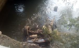 """הרכב שהתהפך (צילום: גבריאל דנינו דוברות מד""""א)"""