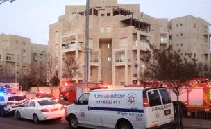 """שריפה התאבדות רצח ירושלים (צילום: מד""""א ירושלים)"""