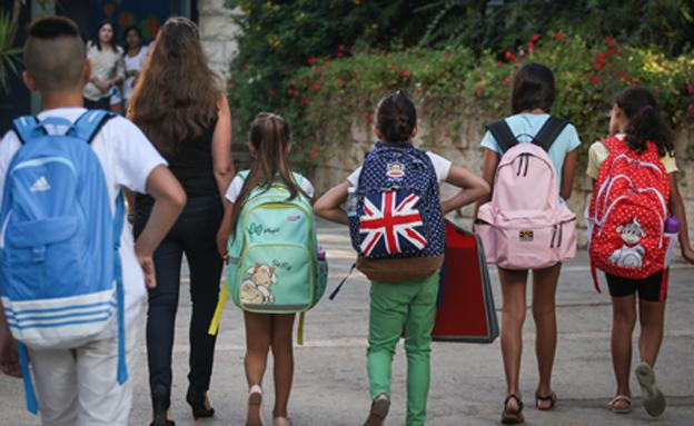 בית ספר, תלמידים, ילקוט, כיתה (צילום: הדס פרוש, פלאש 90)