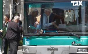 שביתה בקווי אגד בירושלים (צילום: נתי שוחט, פלאש 90)