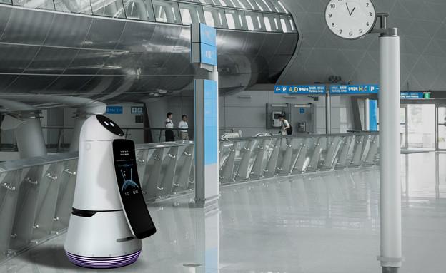 רובוט LG Airport Guide (צילום: LG ,יחסי ציבור)