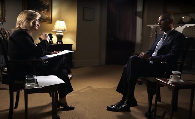 וילון עובדה - ברק אובמה ואילנה דיין (צילום: מתוך עובדה ,עובדה)