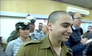 אלאור אזריה בבית הדין הצבאי (צילום: חדשות 2)