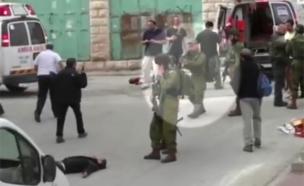 תיעוד הירי של אלאור אזריה (צילום: בצלם)