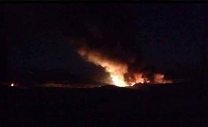 הפצצת שדה תעופה אסטרטגי בדמשק (צילום: חדשות 2)