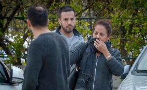 מרגלית צנעני אחרי הפיצוץ ברכבה (צילום: חדשות 2)