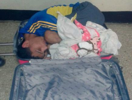 אסיר במזוודה (צילום:  El Universal)