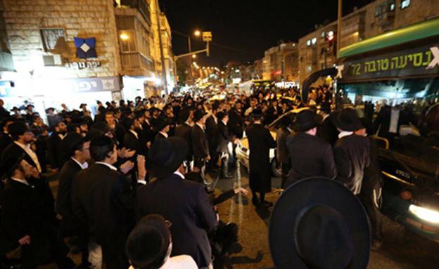 המחאה נגד הגיוס: שבוע של מחאות ליליות בירושלים (צילום: הלל מאיר/TPS)