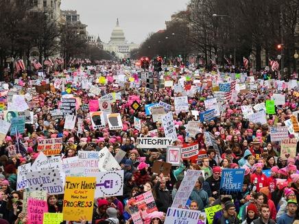 מיליונים השתתפו במחאה העולמית נגד טראמפ (צילום: רויטרס)