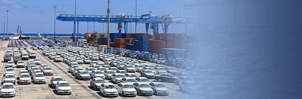 מכוניות חדשות בנמל חיפה (צילום: shutterstock ,shutterstock)