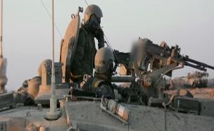 """כח שריון הרס מנהרה ע""""י כוחות השיריון (צילום: חדשות 2)"""