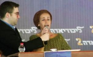 תושבת עמונה בליכודיאדה (צילום: חדשות 2)