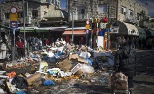 הזבל ייאסף מהרחובות (צילום: פלאש 90 / יונתן סינדל)