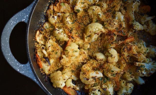 מאפה כרובית וירקות שורש (צילום: מירב גביש ,גבישס, בלוג אוכל)