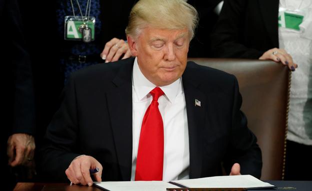 הצו ישאר בהקפאה, טראמפ (צילום: רויטרס)
