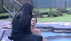דן וג'ודי בשיחה בשכשוכית (צילום: האח הגדול 24/7)