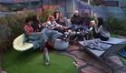 הדיירים מסיימים את היום בישיבה בחוץ (צילום: האח הגדול 24/7)