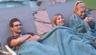 מעיין אנסטסיה ודן נחים בחצר (צילום: האח הגדול 24/7)