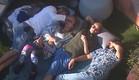 אביחי, מעיין, דן ואורנה נהנים ממזג האוויר  (צילום: האח הגדול 24/7)