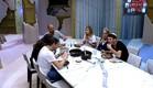 הדיירים אוכלים לרקע שירה של נסרין (צילום: האח הגדול 24/7)