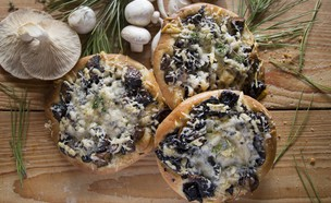מאפה פטריות (צילום: אפיק גבאי ,אוכל טוב)