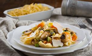 פסטה עם קישואים, בטטה ופטריות (צילום: דרור עינב ,אוכל טוב)