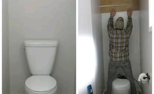 שיפוץ שירותים (צילום: צילום מסך)
