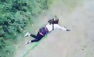 תאונת באנג'י (צילום: Live Leak)