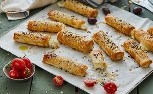 מאפי פילו ממולאים גבינה (צילום: אמיר מנחם ,אוכל טוב)