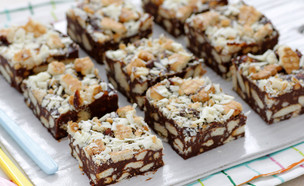 חיתוכיות שוקולד וביסקוויטים (צילום: נטלי לוין ,אוכל טוב)