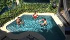 שלושת המוסקטרים - דודו מנואל ודניאל בבריכה (צילום: מתוך