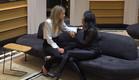 נטע ולימור בשיחה  (צילום: מתוך