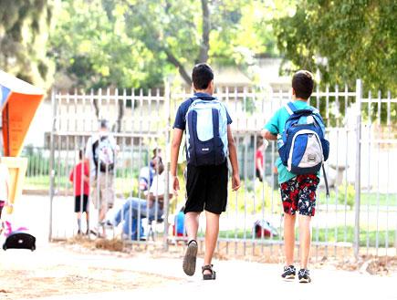 תלמידי בית ספר יסודי (צילום: עודד קרני)
