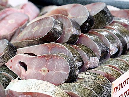 דגי אדמונית בשוק (צילום: עודד קרני)