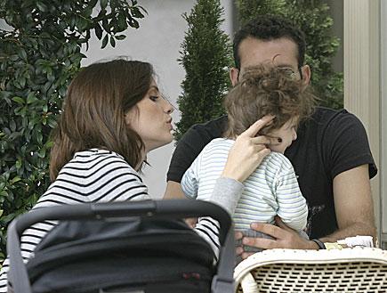 מלי לוי, שמעון גרשון ונועם (צילום: יוני טובלי)